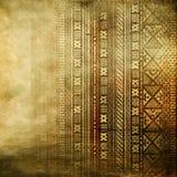 Textura africana en colores de oro Fotografía de archivo libre de regalías
