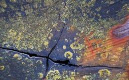 Textura agrietada de la viga de madera Fotos de archivo