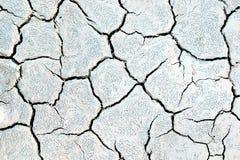 Textura agrietada del fango Imagen de archivo