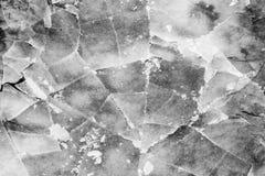 Textura agrietada del hielo foto de archivo