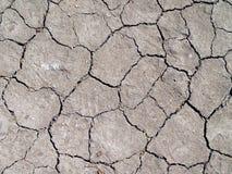 Textura agrietada del suelo Imagen de archivo libre de regalías
