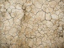 Textura agrietada seca de la tierra, fondo Foto de archivo libre de regalías
