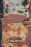 Textura aherrumbrada de la bomba de gas del armario del metal Imágenes de archivo libres de regalías