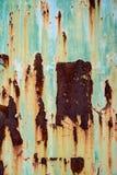 Textura aherrumbrada del metal Imagenes de archivo