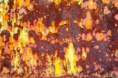 Textura aherrumbrada del metal Fotografía de archivo