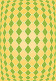 Textura alaranjada e verde do rhombus Foto de Stock