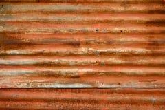 Textura alaranjada queimada da folha de metal Fotografia de Stock Royalty Free