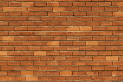 Textura alaranjada sem emenda da parede de tijolo Fotos de Stock Royalty Free