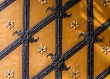 Textura alemana de la puerta Imagenes de archivo