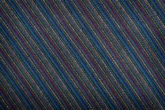 Textura alineada colorida de la tela Foto de archivo