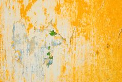Textura amarela da parede Imagens de Stock Royalty Free