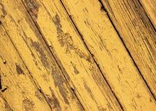 Textura amarela de madeira Fotos de Stock Royalty Free