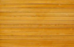 Textura amarela de madeira da prancha Fotografia de Stock Royalty Free