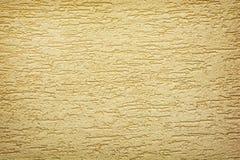 Textura amarela do fundo da parede Imagem de Stock