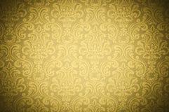 Textura amarela do papel de parede Fotos de Stock Royalty Free