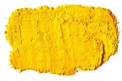 Textura amarela feita do turmeric imagens de stock royalty free