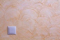 Textura amarela mediterrânea da parede Mármore do fundo pelo Vene imagem de stock royalty free