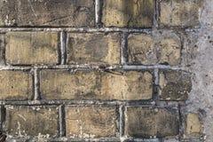 Textura amarela velha da parede de tijolo do vintage Imagens de Stock