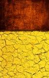 Textura amarela vermelha do grunge Foto de Stock