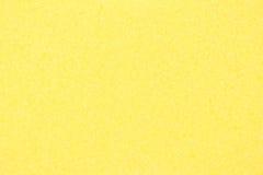 Textura amarilla de la esponja Imagen de fondo abstracta de la esponja del baño Fotografía de archivo libre de regalías