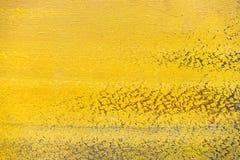 Textura amarilla de los movimientos del cepillo Imagen de archivo