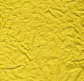 Textura amarrotada amarela abstrata Foto de Stock
