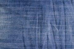 Textura amarrotada das calças de brim do vintage Fotografia de Stock Royalty Free