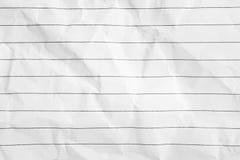 Textura amarrotada do Livro Branco com linha preta Imagem de Stock Royalty Free