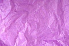 Textura amarrotada roxa do lenço de papel fotografia de stock