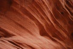 Textura anaranjada brillante de un barranco de la ranura Foto de archivo libre de regalías