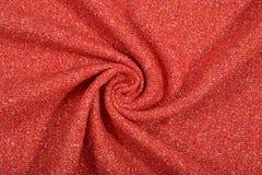 Textura anaranjada cubierta de la tela de las lanas del tweed imagen de archivo libre de regalías