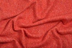 Textura anaranjada cubierta de la tela de las lanas del tweed fotografía de archivo libre de regalías