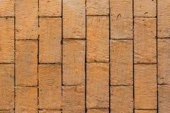 Textura anaranjada de la pared de ladrillo Imagenes de archivo