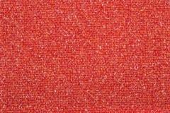Textura anaranjada de la tela de las lanas del tweed fotografía de archivo