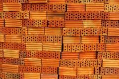 Textura anaranjada de los ladrillos Imágenes de archivo libres de regalías