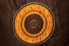 Textura anaranjada del círculo fotografía de archivo libre de regalías