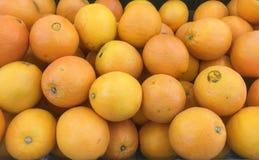 Textura anaranjada, fresca de las mandarinas, Ubonratchathani, Tailandia Foto de archivo libre de regalías