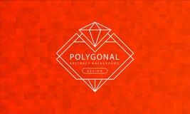 Textura anaranjada poligonal del fondo del extracto, haber texturizado anaranjado, fondos del polígono de la bandera, ejemplo del ilustración del vector