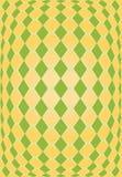 Textura anaranjada y verde del Rhombus Foto de archivo