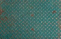 Textura anti del piso del metal del resbalón del metal verde Fotografía de archivo
