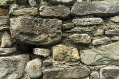 Textura antiga da parede da pedra e da terra Imagens de Stock Royalty Free