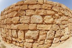 Textura antigua convexa de la pared de piedra Foto de archivo libre de regalías