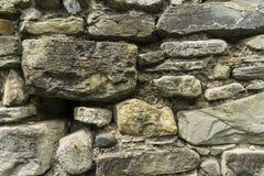Textura antigua de la pared de la piedra y de la tierra Imágenes de archivo libres de regalías