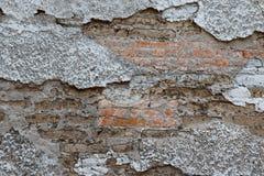 Textura apenada de la pared del ladrillo y del yeso fotos de archivo