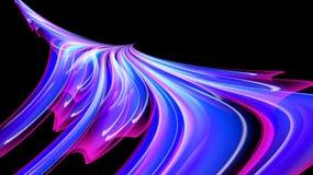 Textura ardiente cósmica mágica de la energía rosada púrpura brillante hermosa del extracto, pájaro de Phoenix de líneas y rayas, stock de ilustración
