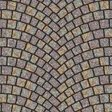 Textura arqueada 049 del pavimento del guijarro Fotos de archivo libres de regalías
