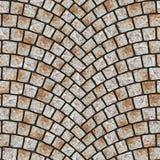 Textura arqueada 050 del pavimento del guijarro Imagen de archivo libre de regalías