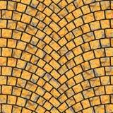 Textura arqueada 054 del pavimento del guijarro Fotos de archivo