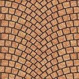 Textura arqueada 056 del pavimento del guijarro Imagen de archivo libre de regalías