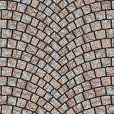 Textura arqueada 055 del pavimento del guijarro Fotografía de archivo libre de regalías